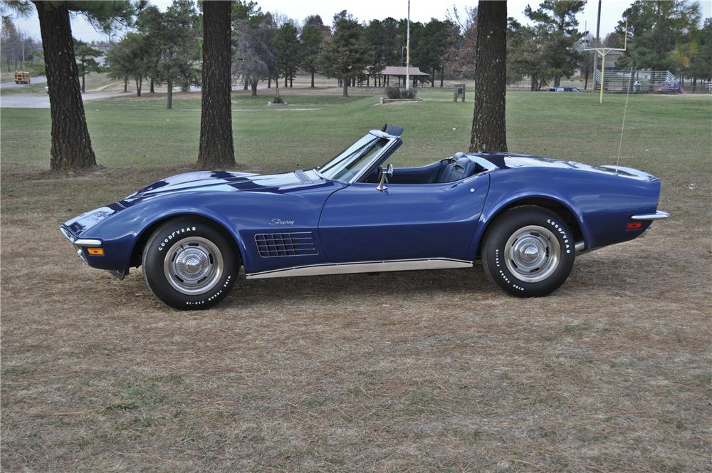 1972 CHEVROLET CORVETTE CONVERTIBLE - Side Profile - 96418