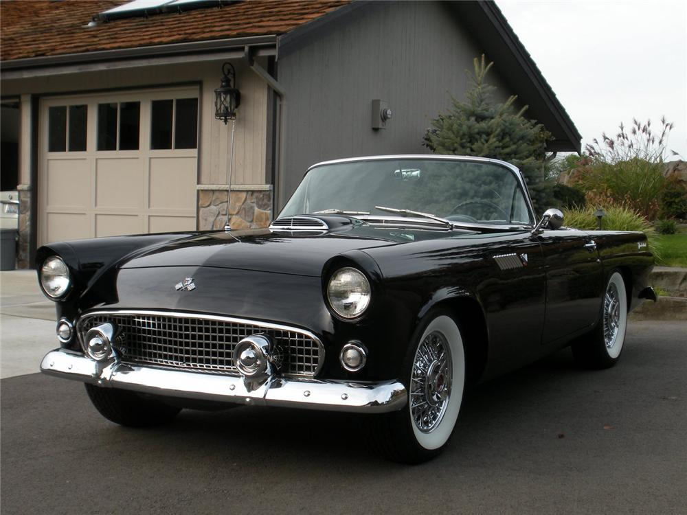 1955 FORD THUNDERBIRD CONVERTIBLE - Front 3/4 - 96427