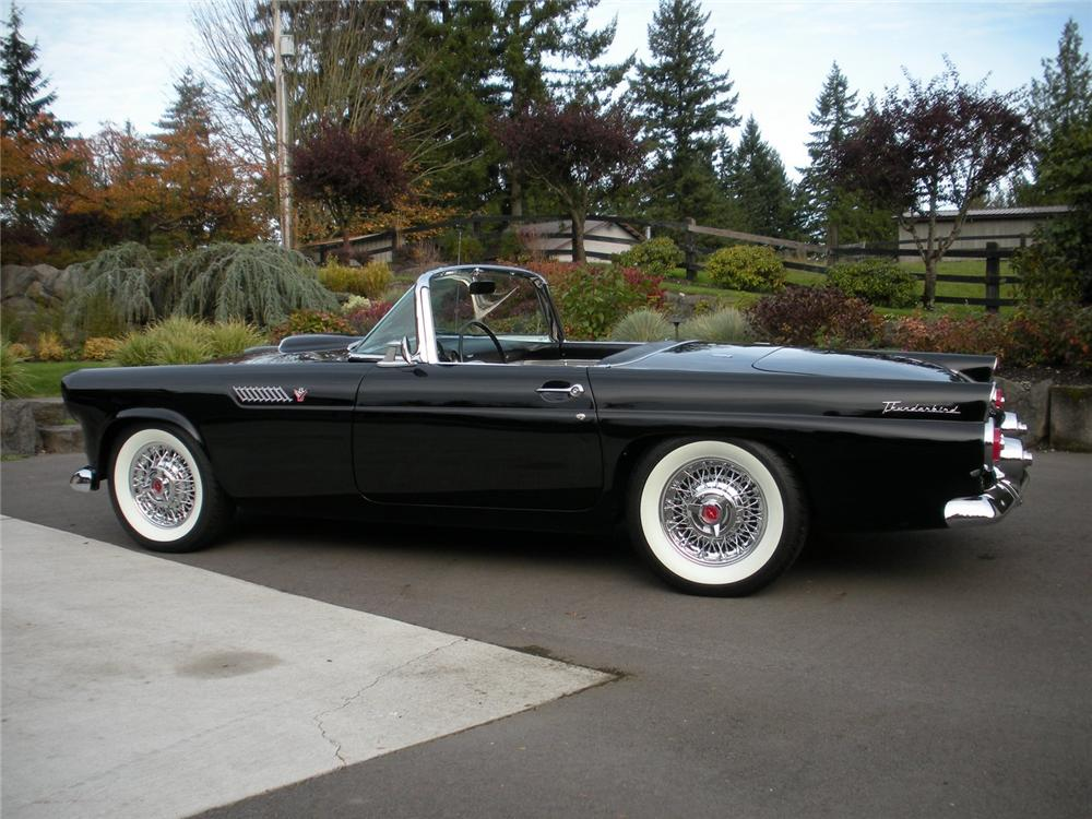 1955 FORD THUNDERBIRD CONVERTIBLE - Side Profile - 96427