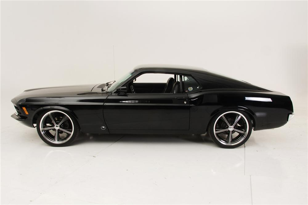 1970 FORD MUSTANG CUSTOM FASTBACK - Side Profile - 96434