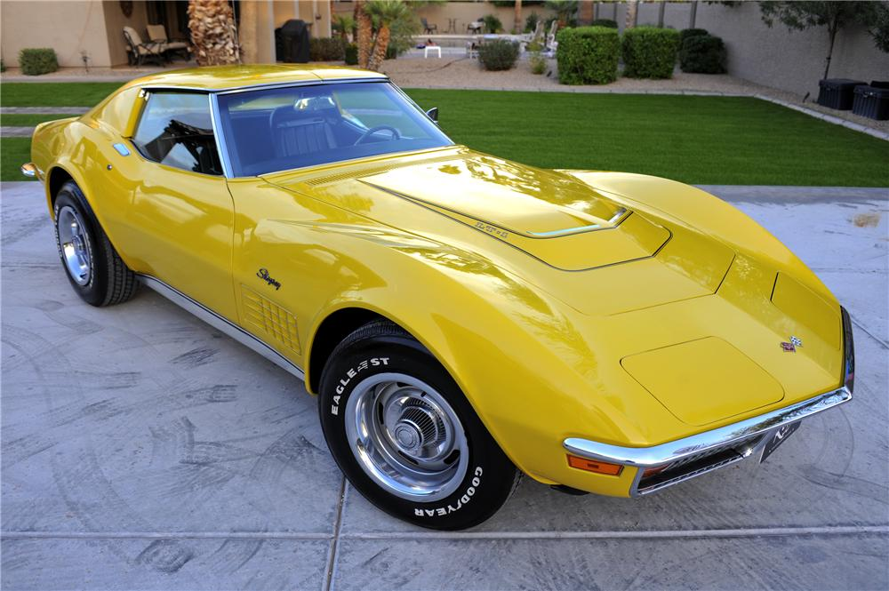 1971 CHEVROLET CORVETTE 2 DOOR COUPE - Front 3/4 - 96442