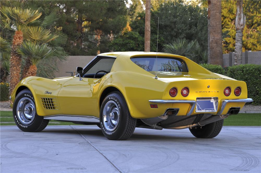 1971 CHEVROLET CORVETTE 2 DOOR COUPE - Rear 3/4 - 96442