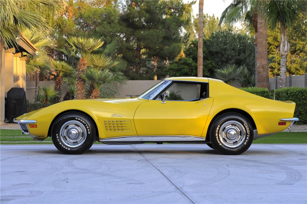 1971 CHEVROLET CORVETTE 2 DOOR COUPE - Side Profile - 96442