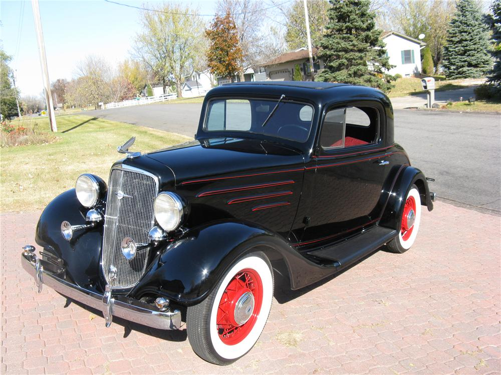 1935 CHEVROLET 3 WINDOW COUPE - Front 3/4 - 96446