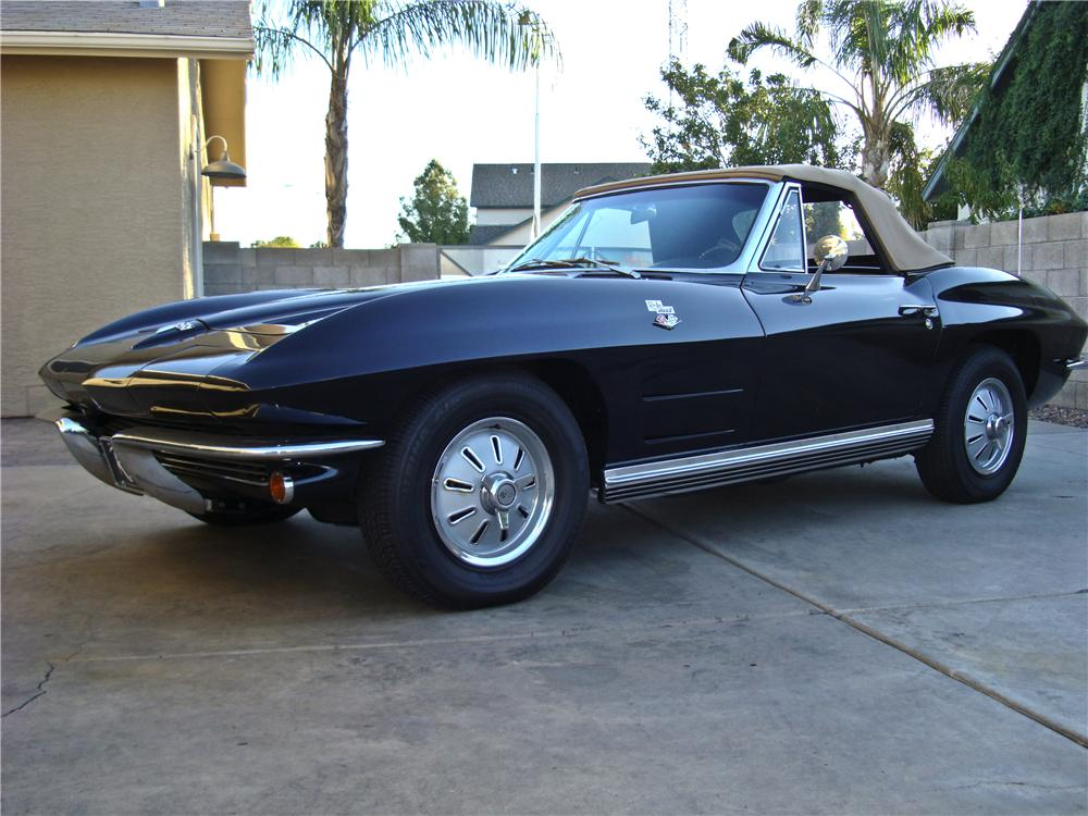 1964 CHEVROLET CORVETTE CONVERTIBLE - Front 3/4 - 96448