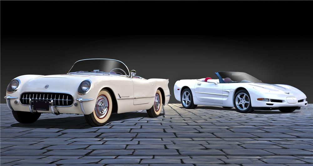 1953 CHEVROLET CORVETTE CONVERTIBLE - Rear 3/4 - 96449