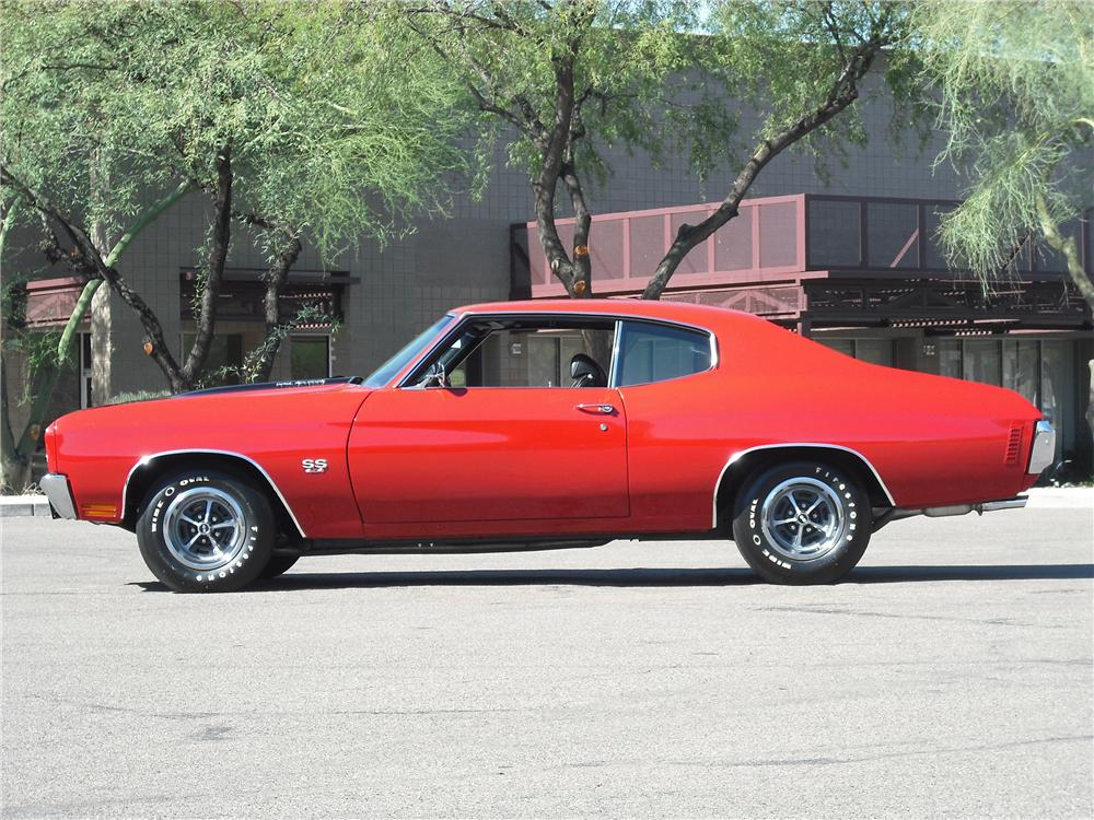 1970 CHEVROLET CHEVELLE SS LS6 2 DOOR HARDTOP - Side Profile - 96453