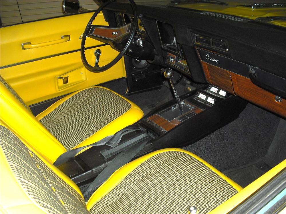 1969 CHEVROLET CAMARO RS/SS 2 DOOR COUPE - Interior - 96456