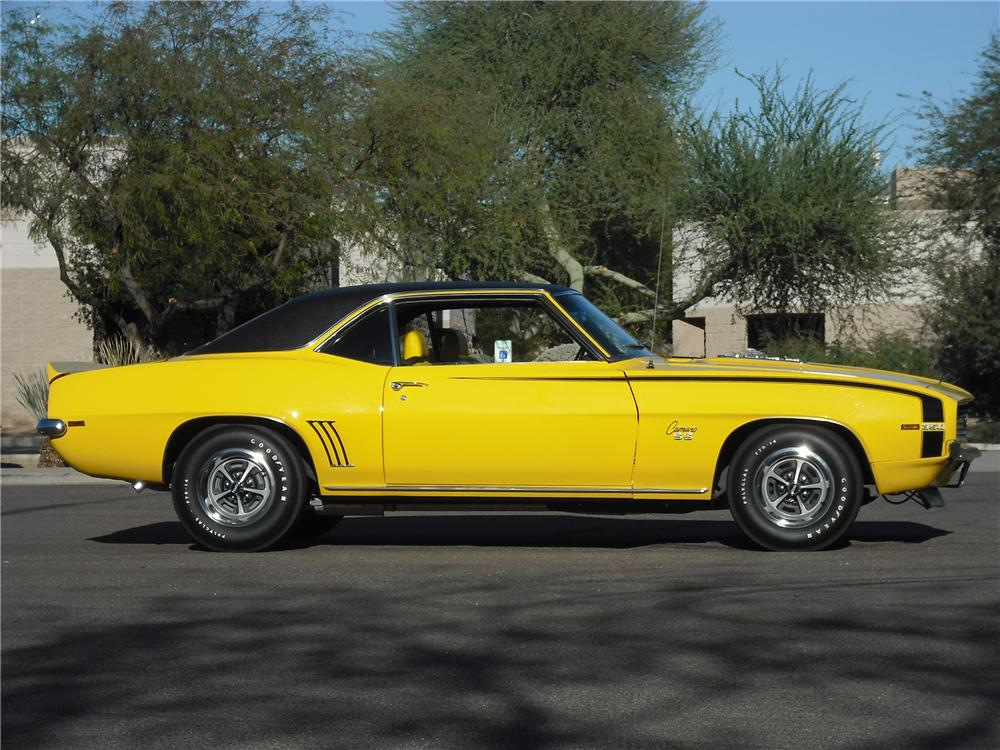 1969 CHEVROLET CAMARO RS/SS 2 DOOR COUPE - Side Profile - 96456