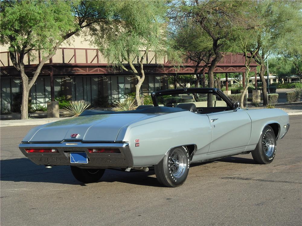 1969 BUICK GRAN SPORT CONVERTIBLE - Rear 3/4 - 96457
