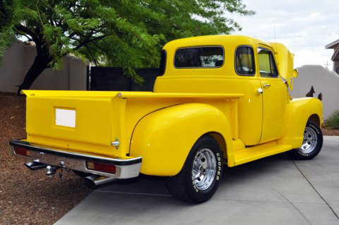1952 CHEVROLET 3100 CUSTOM PICKUP - Rear 3/4 - 96471