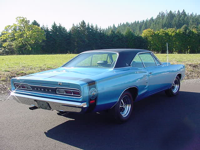 1969 DODGE SUPER BEE CUSTOM 2 DOOR HARDTOP - Rear 3/4 - 96480