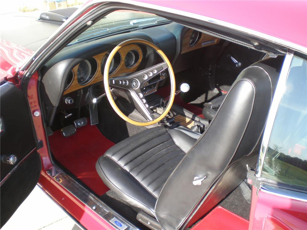 1969 FORD MUSTANG MACH 1 428 SCJ 2 DOOR FASTBACK - Interior - 96487