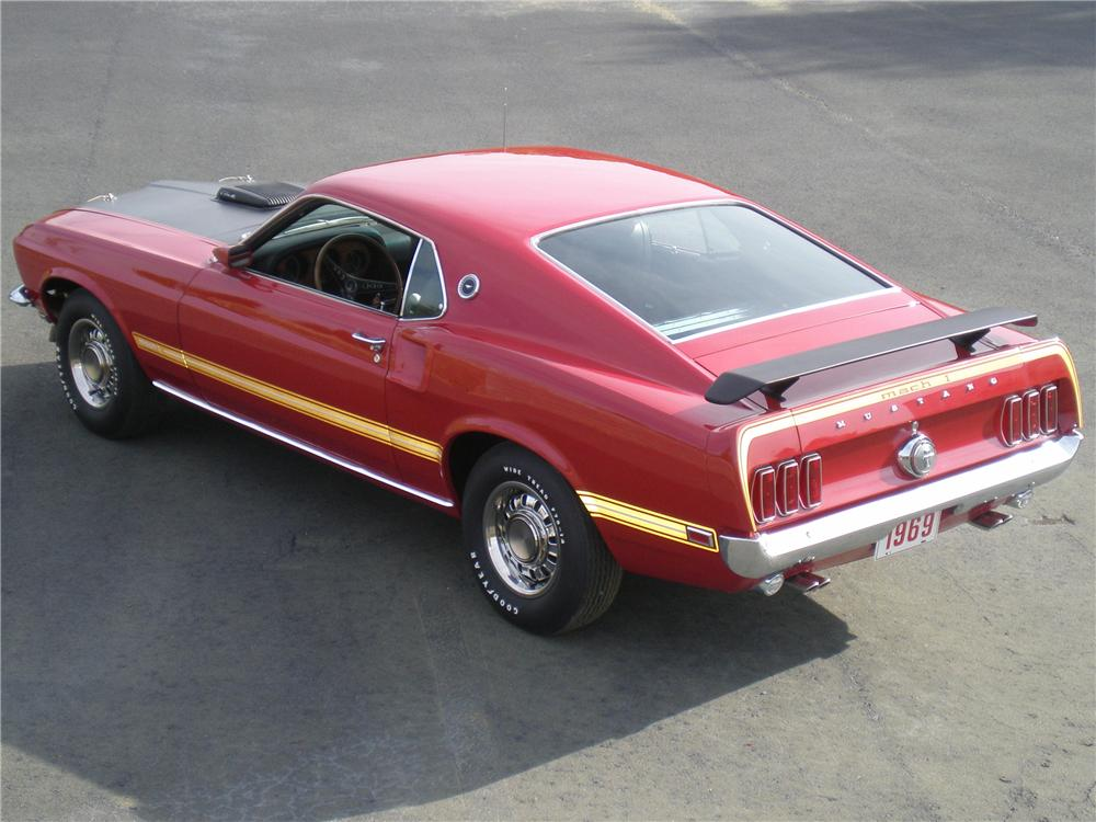 1969 FORD MUSTANG MACH 1 428 SCJ 2 DOOR FASTBACK - Rear 3/4 - 96487
