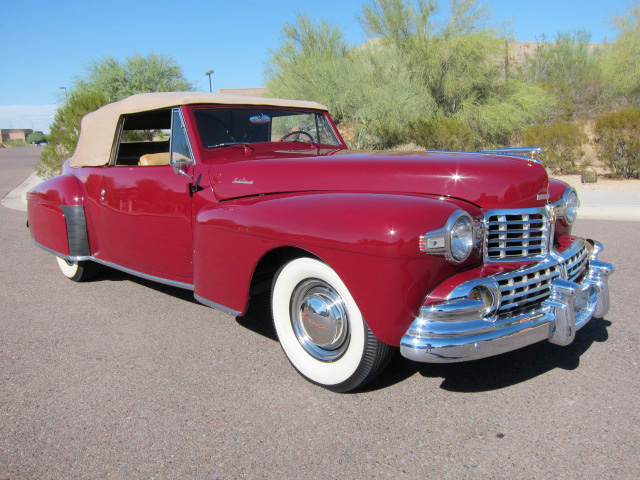 1948 LINCOLN CONTINENTAL CONVERTIBLE - Front 3/4 - 96489