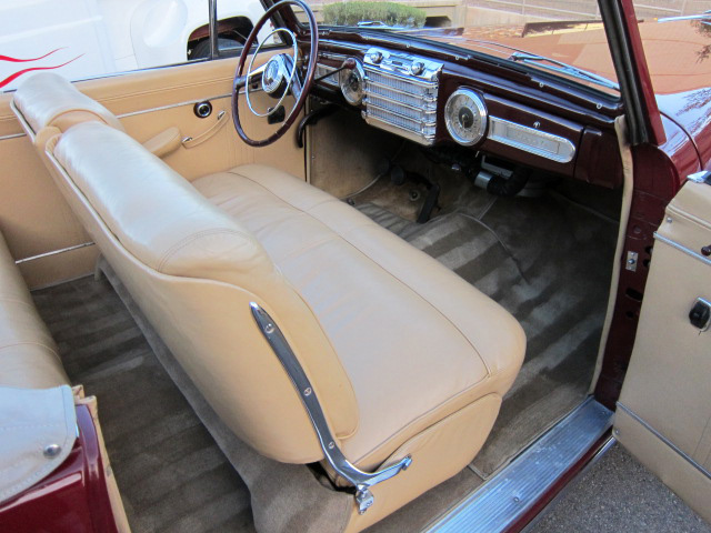 1948 LINCOLN CONTINENTAL CONVERTIBLE - Interior - 96489