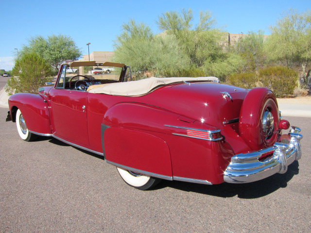 1948 LINCOLN CONTINENTAL CONVERTIBLE - Rear 3/4 - 96489