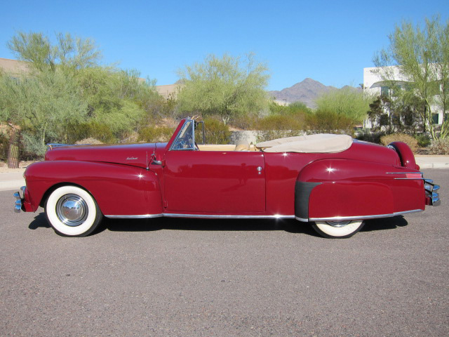 1948 LINCOLN CONTINENTAL CONVERTIBLE - Side Profile - 96489