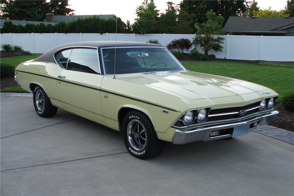 1969 CHEVROLET CHEVELLE SS 2 DOOR COUPE - Front 3/4 - 96490