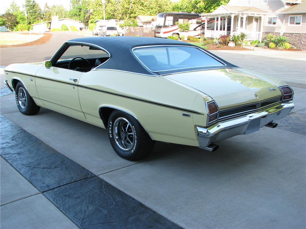 1969 CHEVROLET CHEVELLE SS 2 DOOR COUPE - Rear 3/4 - 96490