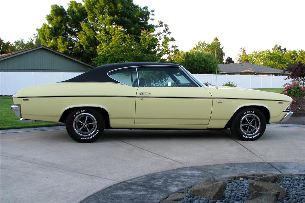 1969 CHEVROLET CHEVELLE SS 2 DOOR COUPE - Side Profile - 96490