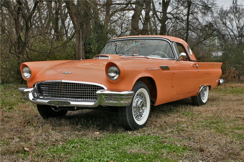 1957 FORD THUNDERBIRD CONVERTIBLE - Front 3/4 - 96493