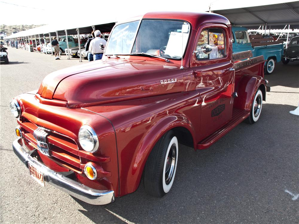 1951 DODGE B-3B CUSTOM PICKUP - Front 3/4 - 96501