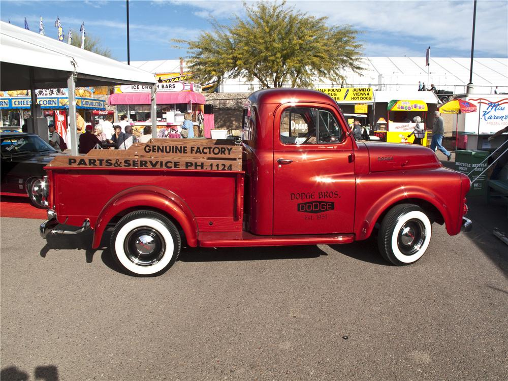 1951 DODGE B-3B CUSTOM PICKUP - Side Profile - 96501