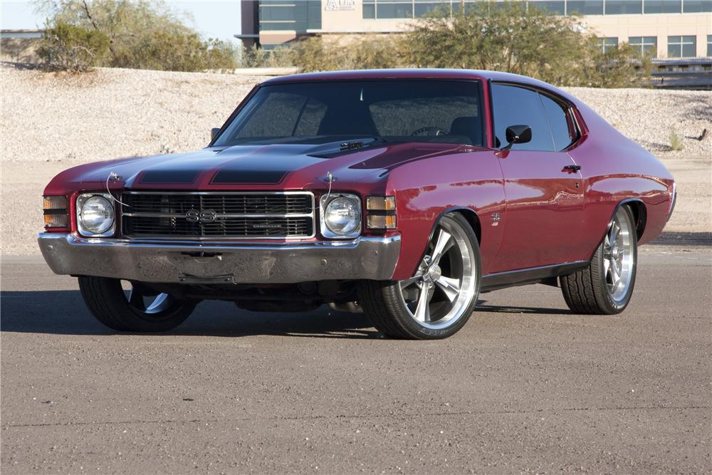 1971 CHEVROLET CHEVELLE CUSTOM COUPE - Front 3/4 - 96503