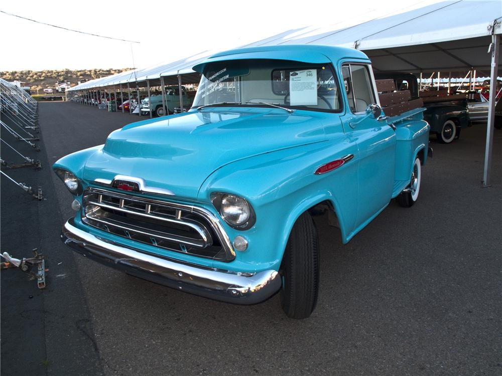 1957 CHEVROLET 3200 CUSTOM PICKUP - Front 3/4 - 96504