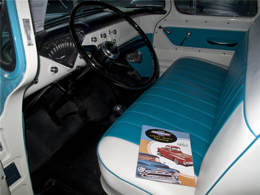 1957 CHEVROLET 3200 CUSTOM PICKUP - Interior - 96504