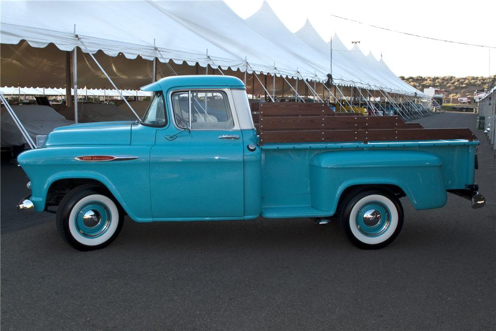 1957 CHEVROLET 3200 CUSTOM PICKUP - Side Profile - 96504
