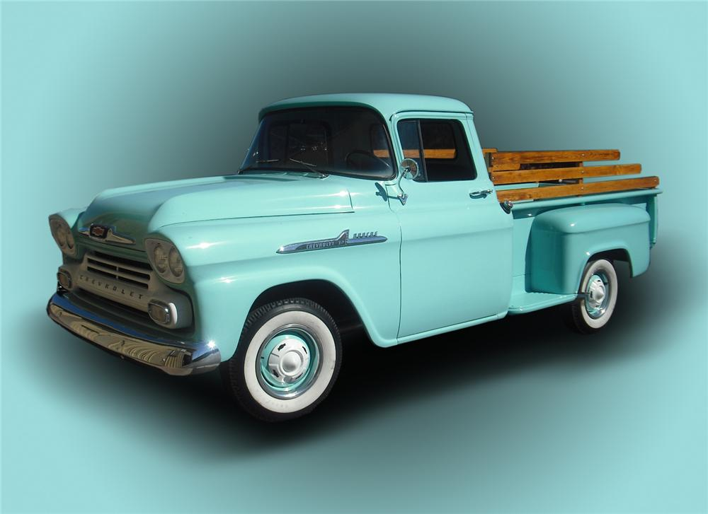1958 CHEVROLET 1/2 TON DELIVERY TRUCK - Front 3/4 - 96514