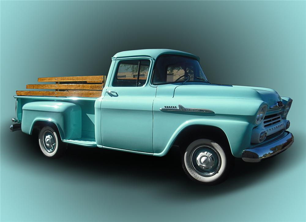 1958 CHEVROLET 1/2 TON DELIVERY TRUCK - Side Profile - 96514