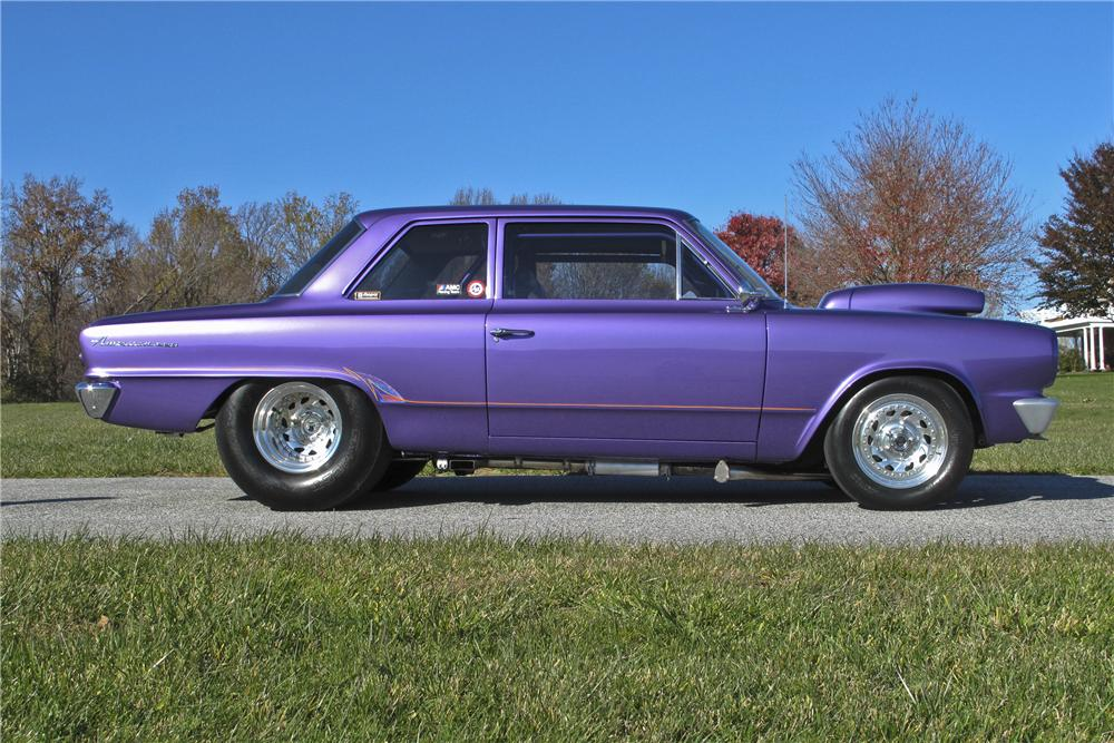 1964 AMC RAMBLER AMERICAN CUSTOM 2 DOOR HARDTOP - Side Profile - 96525