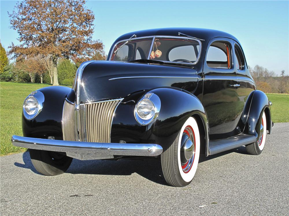 1939 FORD DELUXE CUSTOM 2 DOOR COUPE - Front 3/4 - 96527