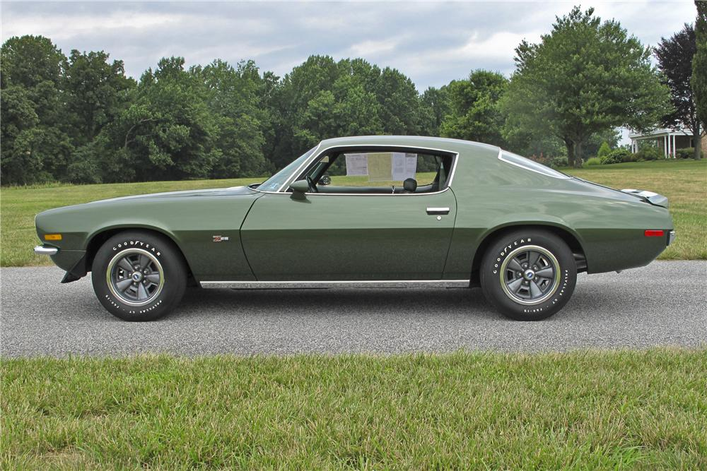 1970 CHEVROLET CAMARO Z/28 COUPE - Side Profile - 96531