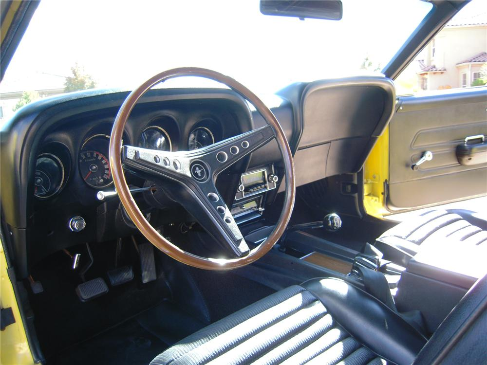 1969 FORD MUSTANG BOSS 302 2 DOOR FASTBACK - Interior - 96533