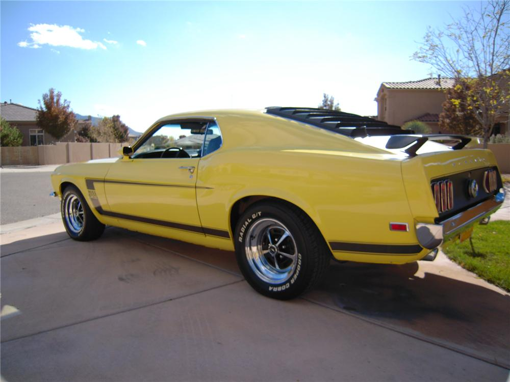 1969 FORD MUSTANG BOSS 302 2 DOOR FASTBACK - Rear 3/4 - 96533