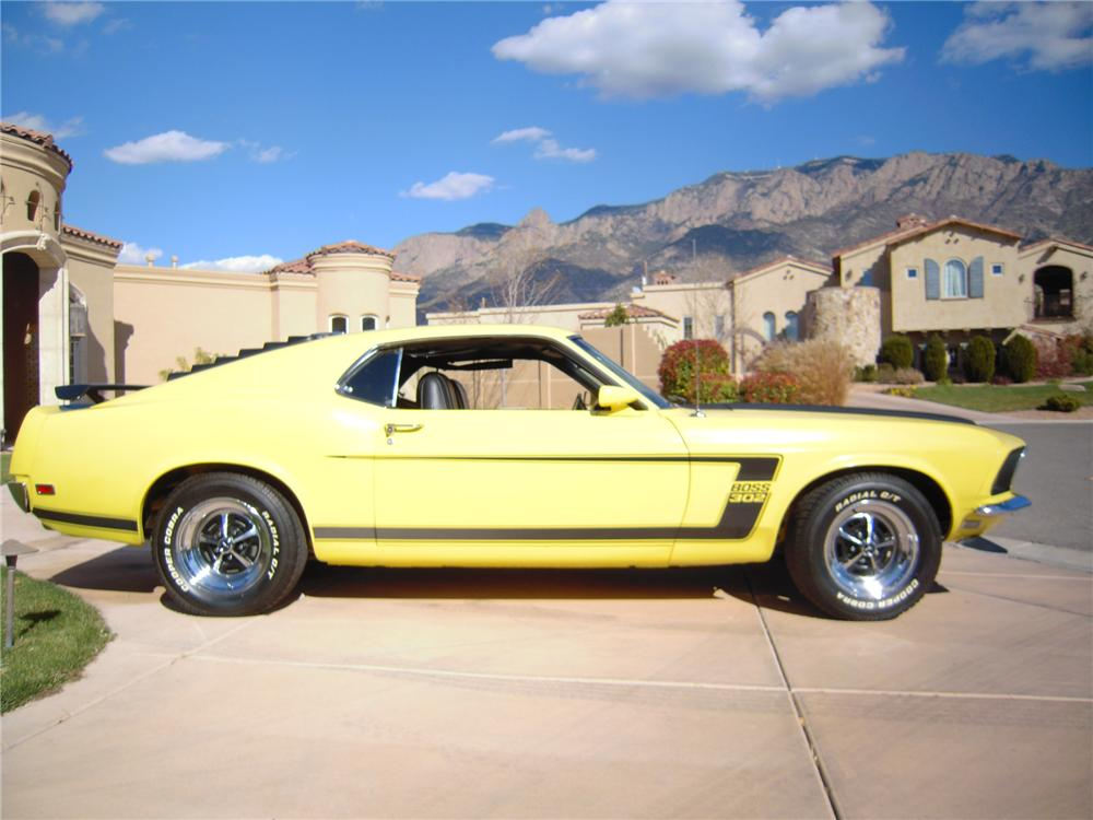 1969 FORD MUSTANG BOSS 302 2 DOOR FASTBACK - Side Profile - 96533