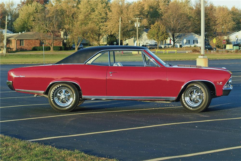 1966 CHEVROLET CHEVELLE SS 2 DOOR COUPE - Side Profile - 96534
