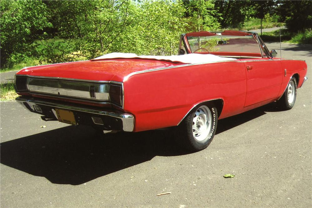 1967 DODGE DART GT 2 DOOR CONVERTIBLE - Rear 3/4 - 96535