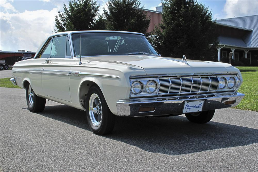 1964 PLYMOUTH FURY CUSTOM 2 DOOR HARDTOP - Front 3/4 - 96539