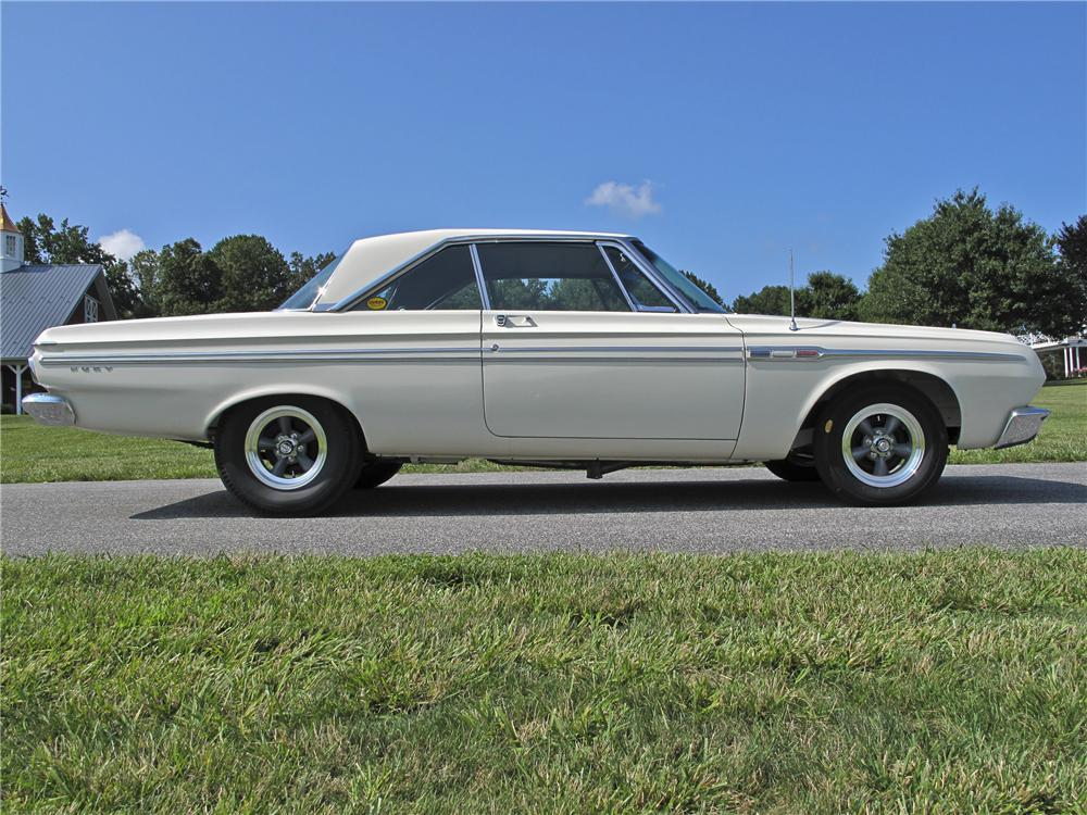 1964 PLYMOUTH FURY CUSTOM 2 DOOR HARDTOP - Side Profile - 96539
