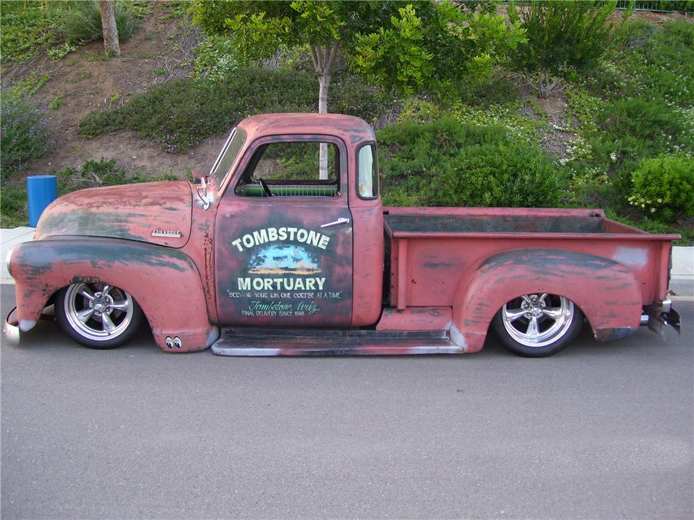 1948 CHEVROLET 5 WINDOW CUSTOM PICKUP - Front 3/4 - 96540