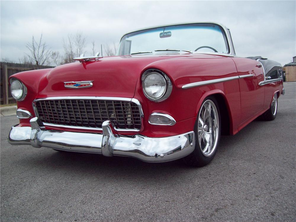 1955 CHEVROLET 210 CUSTOM CONVERTIBLE - Front 3/4 - 96547