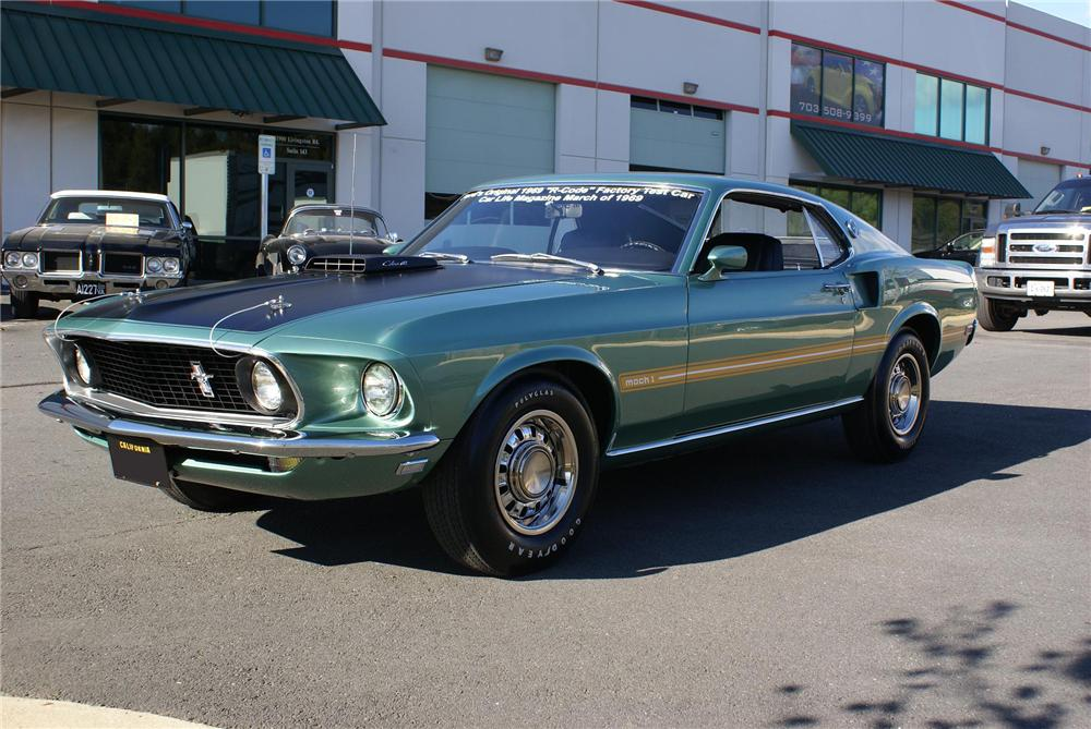 "1969 FORD MUSTANG 428 CJ ""R"" FASTBACK - Front 3/4 - 96549"