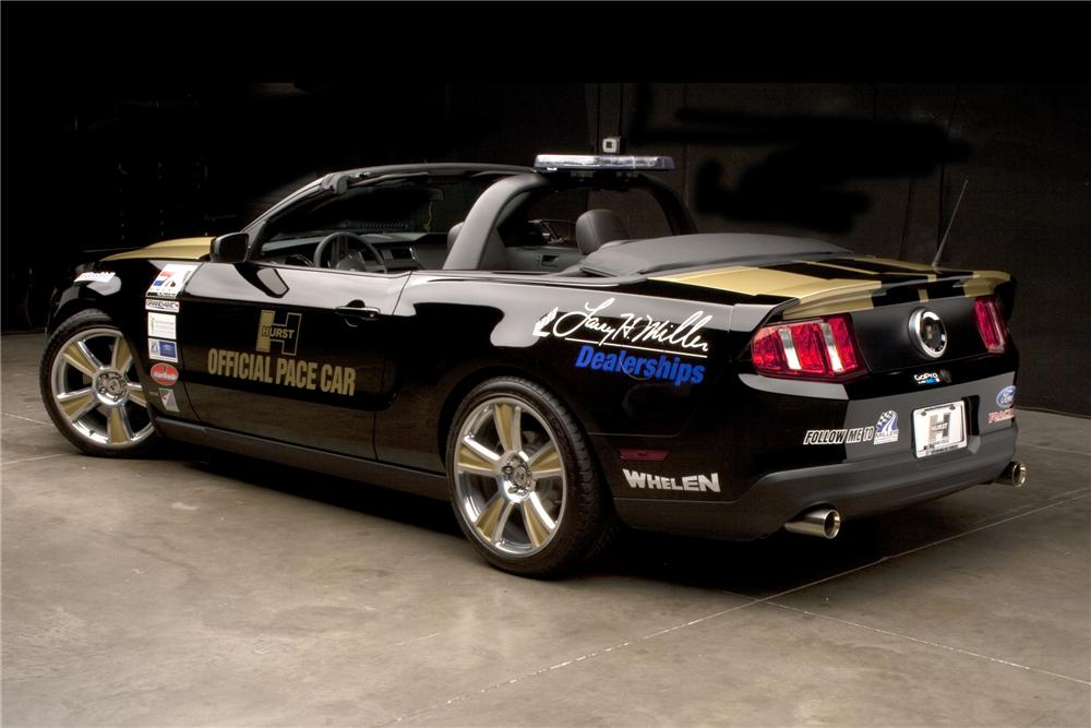 2010 FORD MUSTANG GT PACE CAR CONVERTIBLE - Rear 3/4 - 96553