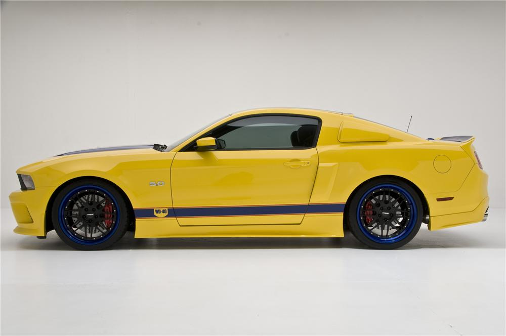 2011 FORD MUSTANG CUSTOM 2 DOOR COUPE - Side Profile - 96565