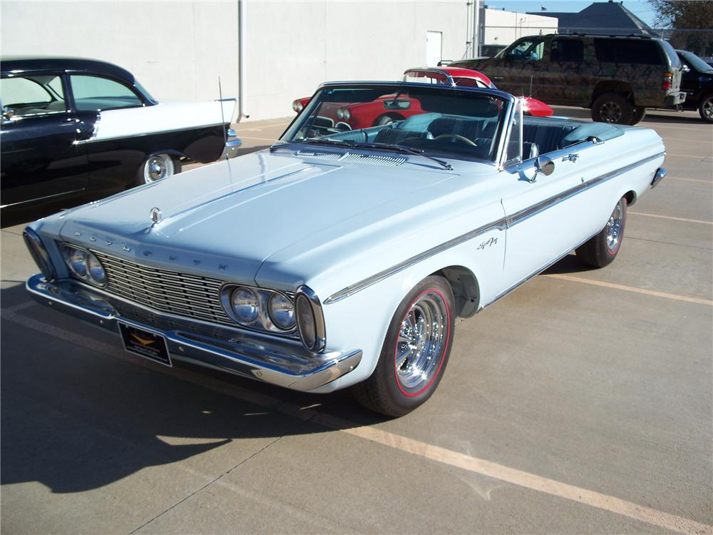 1963 PLYMOUTH SPORT FURY CONVERTIBLE - Front 3/4 - 96566